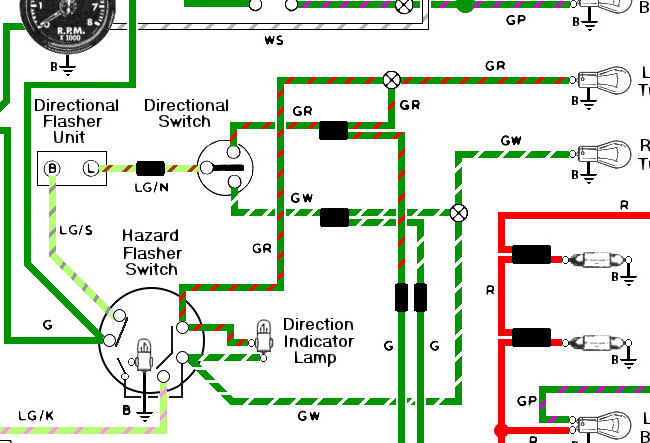76diagram_turn hazzard light fitting spitfire & gt6 forum triumph experience triumph spitfire mk1 wiring diagram at virtualis.co